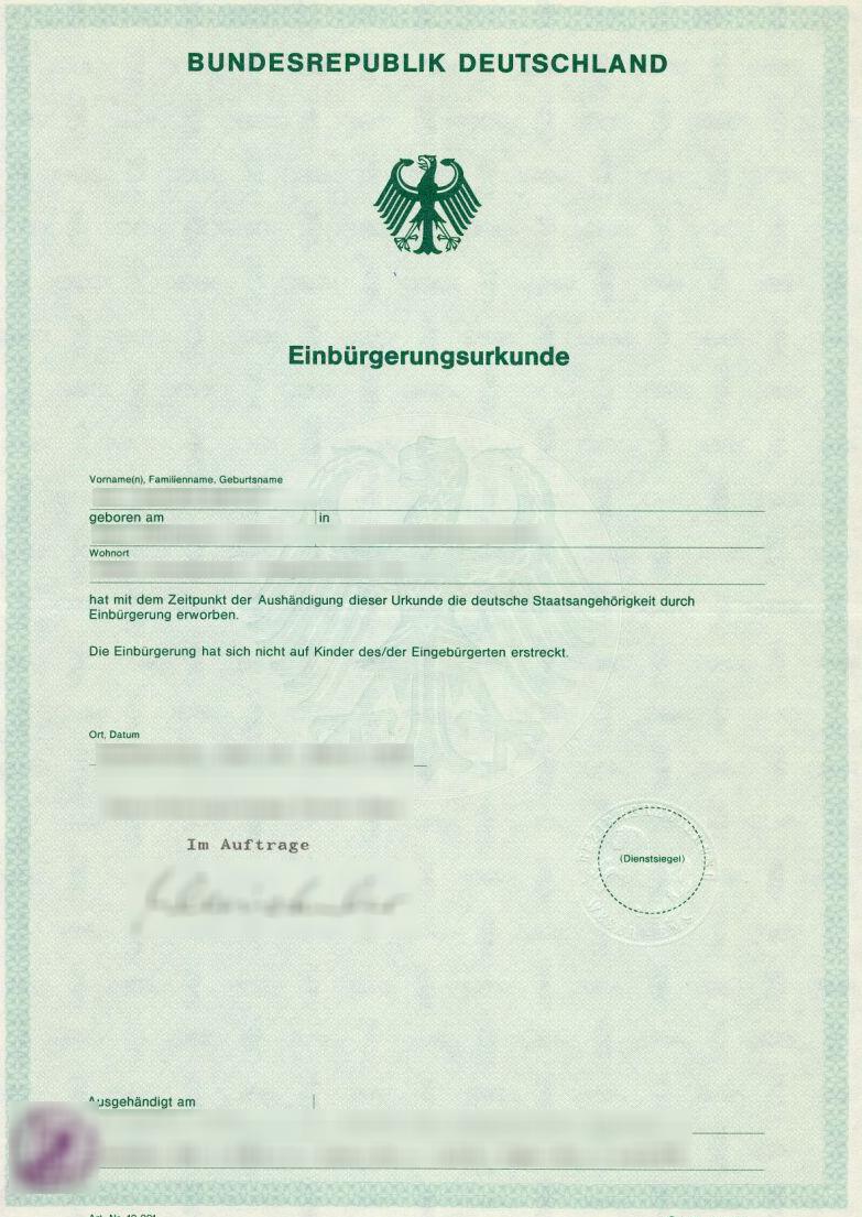 Die Bedeutung des Staatsangehörigkeitsausweises - Teil 2 (Vorteile ...