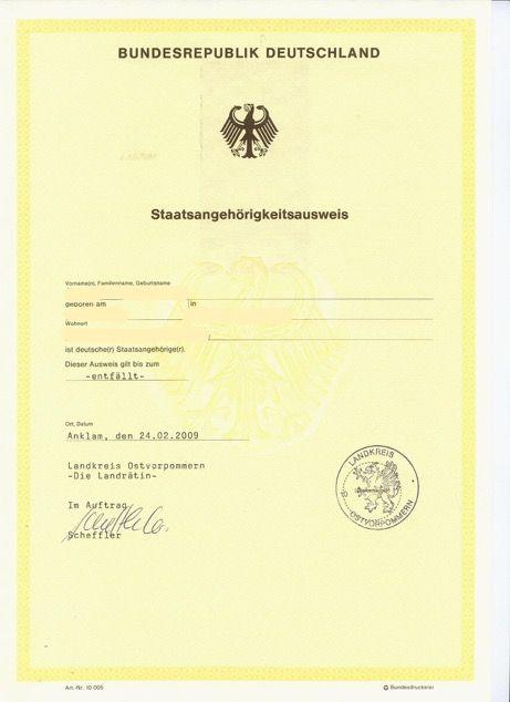 Deutsche Staatsbürgerschaft Beantragen Berlin